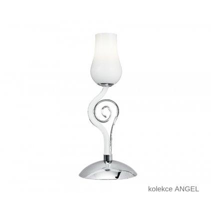 I ANGEL LM1 FANEUROPE stolní lampa bílé skleněné svítidlo na www pikomal cz