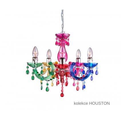 I HOUSTON S5 COL FANEUROPE závěsné multi barevné skleněné svítidlo na www pikomal cz