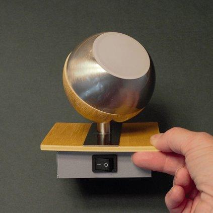 bodovky na liště kulaté dřevo LED obchod svitidla dagmar touskova pikomal s vypínačem