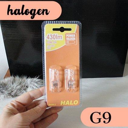 halogen g9 blistr 2kusy žárovka obchod svitidla pikomal