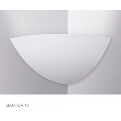 I SANTORINI AP FANEUROPE na stěnu bílé sádrové svítidlo na www pikomal cz