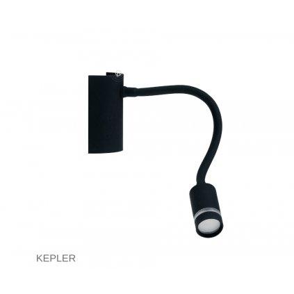 LED KEPLER NERO černé čtecí svítidlo na www pikomal cz