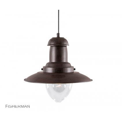 4301RU FISHERMAN lustr hnědý Searchlight pikomal