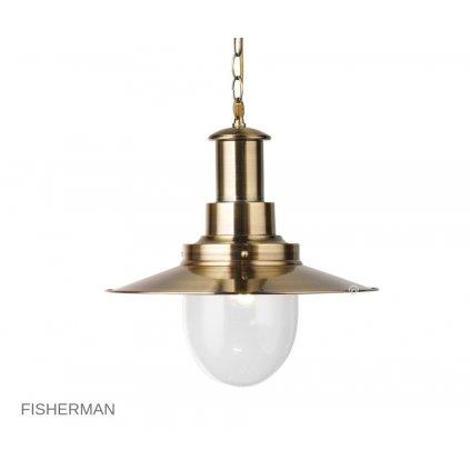 5301AB Fisherman antická mosaz Searchlight pikomal