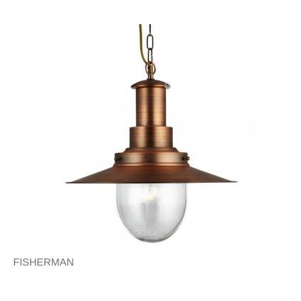 5301CU Fisherman antická měď Searchlight pikomal