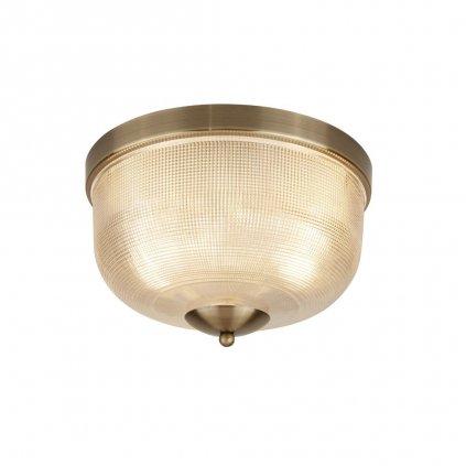 1352 2AB stropni svetlo anticka mosaz sklo s vroubky obchod svitidla pikomal