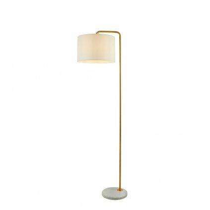 EU5024GO stojací lampa mosaz a textilní stínidlo obchod svitidla pikomal