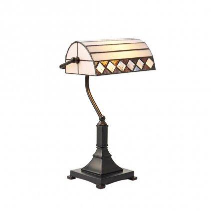 70908 stolni lampa bankéřská styl tiffany obchod svitidla pikomal