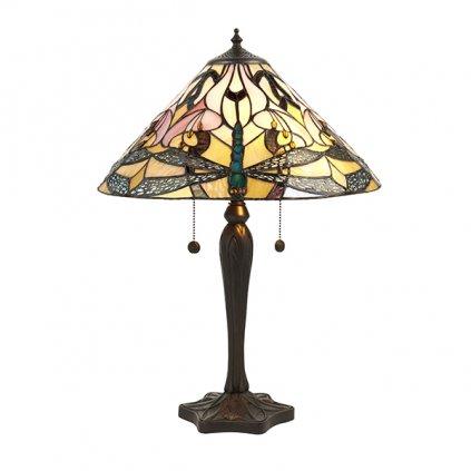 63925 Ashton 2xE27 stolní lampa růžová (N2)