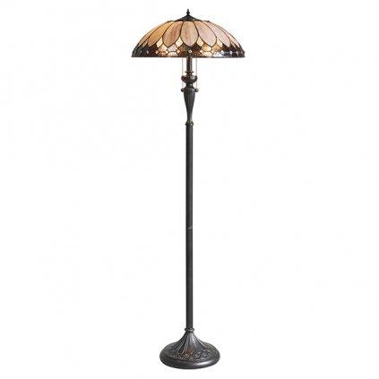 63972 Brooklyn 2xE27 stojací lampa krém