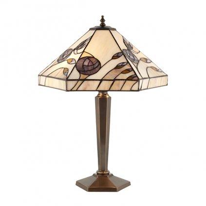 64038 Damselfly 2xE27 stolní lampa fialová