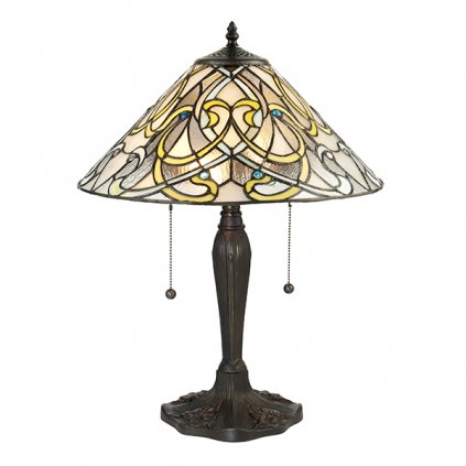 64055 Dauphine 2xE27 stolní lampa žlutá