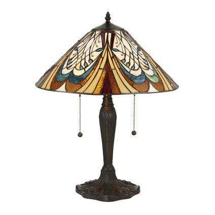 64163 Hector 2xE27 stolní lampa modrá