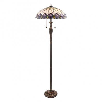 64172 Hutchinson 2xE27 stojací lampa fialová