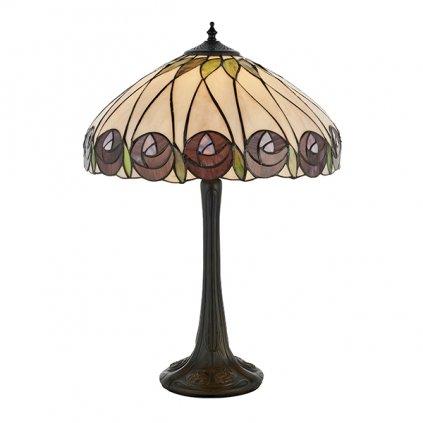 64177 Hutchinson 1xE27 stolní lampa fialová