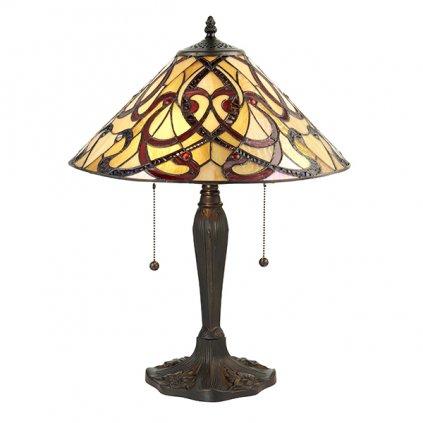 64321 Ruban 2xE27 stolní lampa červená