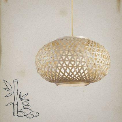 Svítidlo z bambusu o průměru 70cm závěsné obchod svitidla pikomal jpg