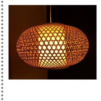 Bambusový lustr obchod svitidla pikomal dagmar touskova