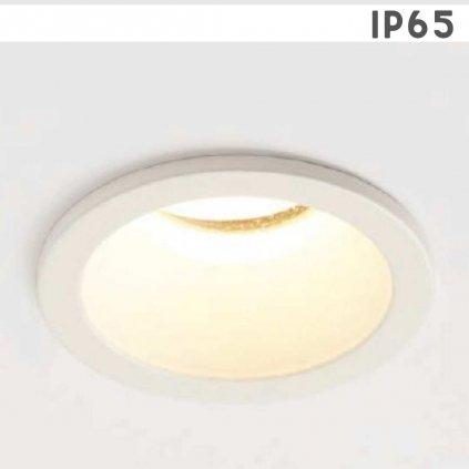 SLIM senemty světlo IP65 zápustné do koupelny kov bílá barva