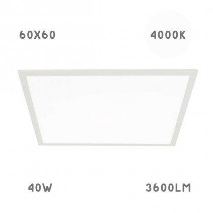 led panel 60x60 40w 4000K obchod svitidla pikomal