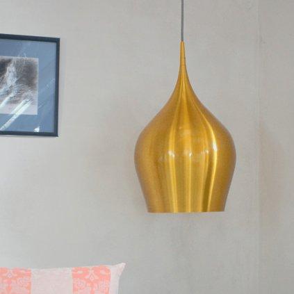 6461 26GO závěsné svítidlo zlatá metalýza žluté kovový lustr