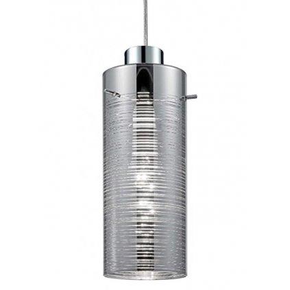 16185-1 JARON závěsné dekorativní svítidlo 1xE27 lesklý chrom s proužky