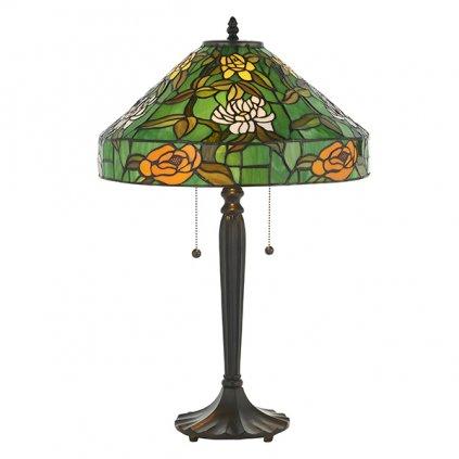 AGAPANTHA stolní lampa 74426 s květy v zeleném