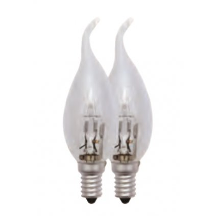 89074-2 ESTO žárovka halogen E14 plamínek 42W