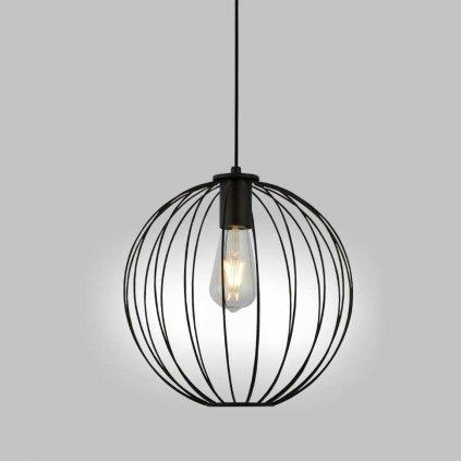 zavesne svítidlo drát černý koule stylové www pikomal cz 700830