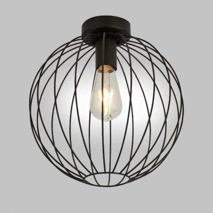 stropní svítidlo drát černý koule stylové www pikomal cz 700829