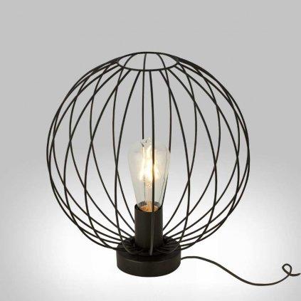 stolní svítidlo drát černý koule stylové www pikomal cz 700828