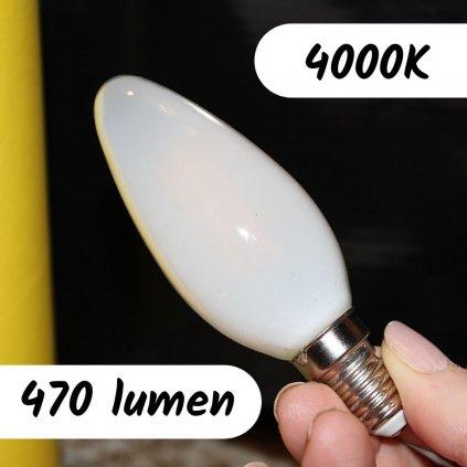 E14 LUXA 4W 4000K žárovka patice 470lumen svíčka