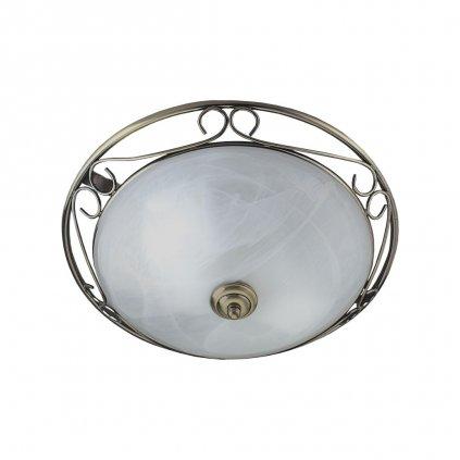 6436 stropni svetlo mosaz antik sklo alabastr obchod svitidla pikomal