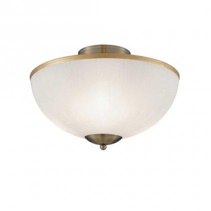 6580AB svetlo na strop mosaz antik a sklo obchod svitidla pikomal