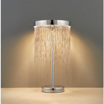 73769 ZELMA stolní lampa LED - SMD stříbrné řetízky