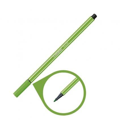 68 33 světle zelená fixa stabilo pen 68 kreativita psaní malování pikomal dagmar touskova