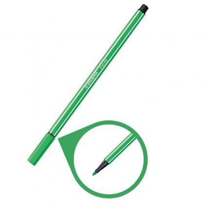 68 16 světlý smaragd zelená fixa stabilo pen 68 kreativita psaní malování pikomal dagmar touskova