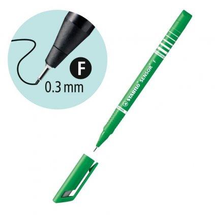 189 36 zelená barva na psaní tenkou čarou stabilo obchod pikomal dagmar toušková