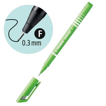 189 43 svetle zelená barva na psaní tenkou čarou stabilo obchod pikomal dagmar toušková