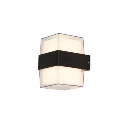 25122 2BK nástěnné svítidlo černé LED ip44 kov a polykarbonát obchod svitidla pikomal