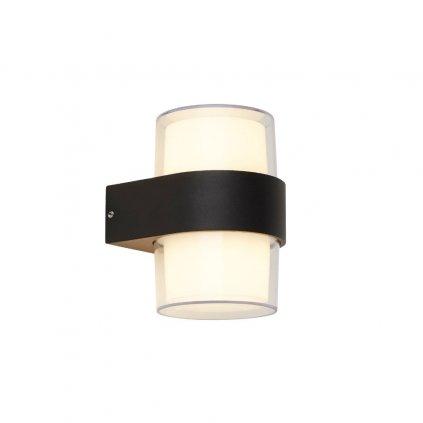 25123 2BK nástěnné svítidlo černé LED ip44 kov a polykarbonát obchod svitidla pikomal