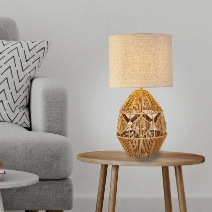 Stolní lampa z ratanu přírodní materiál vzhled obchod svitidla pikomal na stolek