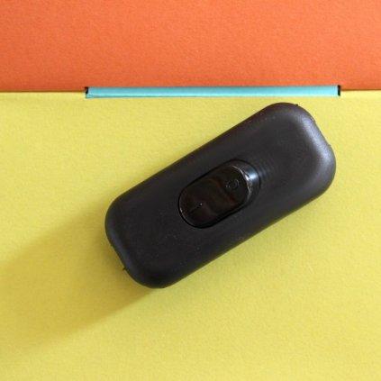 černý vypínač dvoupolovy CC1001 vypínač dvoupolovy černý obchod svitidla pikomal