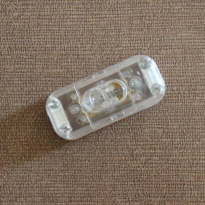 transparentní vypínač dvoupolovy CC1003 vypínač dvoupolovy transparentní obchod svitidla pikomal