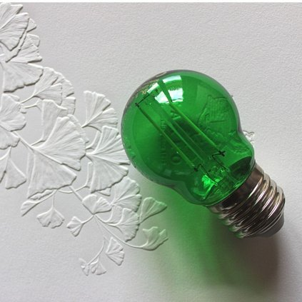 E27 žárovka tvar kulička dekorativní 1,4W zelená LED obchod svitidla pikomal