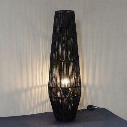 ratanová stojací lampa černá výška 88cm obchod svitidla pikomal