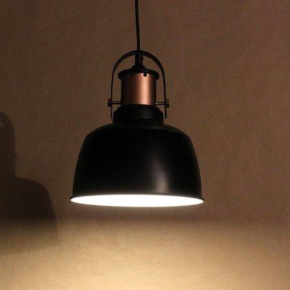 18102 závěsné plechové svítidlo průměr 22cm černé obchod svitidla pikomal