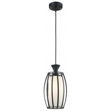 18021 LILLY závěsné kovové svítidlo černé a sklo
