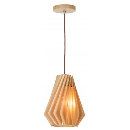 15076 BURL závěsné dřevěné svítidlo přírodní barvy