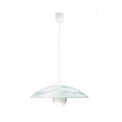 09/04010 ALABASTRO jednoduchý závěs 1xE27 bílé sklo